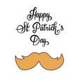 handwritten lettering happy st patricks day vector image