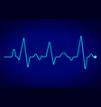 heart pulse monitor with signal on dark blue vector image