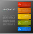 infographic modern fashion timeline of five option vector image vector image