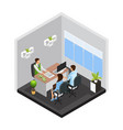 isometric credit issue template vector image vector image