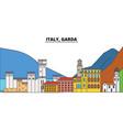 italy garda city skyline architecture vector image vector image