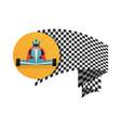 kart championship symbol icon vector image vector image