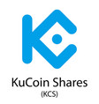 kucoin shares cryptocurrency symbol vector image vector image