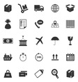 Logistics icons on white background vector image vector image