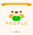 Logo icon group of business people vector image