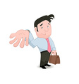 Man gesturing and placing trust vector image vector image