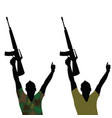 man with rifle silhouette vector image