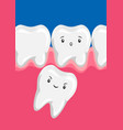 molar squeezes out batooth vector image vector image