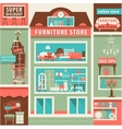 on line Furniture and Home Interior Store Set vector image vector image