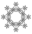 Pattern of snowflakes contours vector image vector image