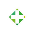 pharmacy logo medicine green cross abstract vector image vector image