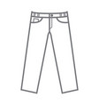 plain uncoloured mockup trousers vector image