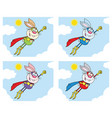 rabbit super hero collection - 2 vector image vector image