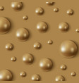 realistic golden spheres in a gold background vector image