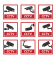 security camera sticker video surveillance vector image