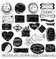 set handmade stamps for mail postage delivery vector image vector image