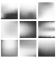 set of abstract halftone background vector image vector image