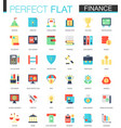set of flat finance icons vector image vector image