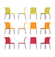 set of office chairs in differnt colors vector image vector image