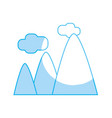 silhouette mountains with clouds and natural vector image vector image
