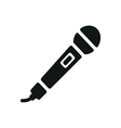 simple black microphone icon on white background vector image vector image