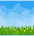 spring meadow cloudscape vector image vector image