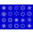 symbolic snowflakes vector image