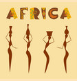 travel to africa banner vector image vector image