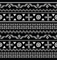tribal black and white seamless repeat pattern vector image vector image