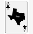 usa playing card ace clubs vector image