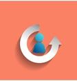 user icon modern flat design vector image vector image