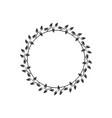 vintage floral round frames black decorative ivy vector image vector image