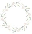 watercolor seeded eucalyptus leaf branch wreath vector image vector image