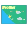 Weather forecast icon cartoon style vector image