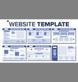 website page set design responsive web vector image