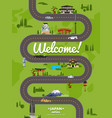 welcome to japan poster with famous attractions vector image vector image