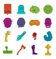 zombie icons doodle set vector image vector image