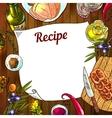food recipe vector image