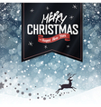 christmas card with black label vector image