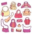 Womens handbags Hand drawn Set vector image