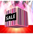 3d big sale cube vector image vector image