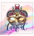 3d gold venetian carnival mask with ornamental vector image vector image