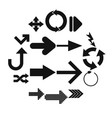 arrow sign black simple icons vector image vector image