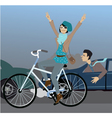 Beat the traffic on a bike vector image vector image