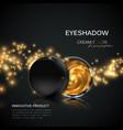 beauty eye shadows or cheek blush ad vector image vector image