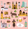 big collection famous landmarks czech vector image vector image