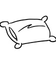 black and white pillow vector image vector image