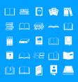 book icons set simple style vector image vector image
