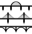 Bridges set vector image vector image