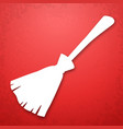 broom applique background vector image vector image